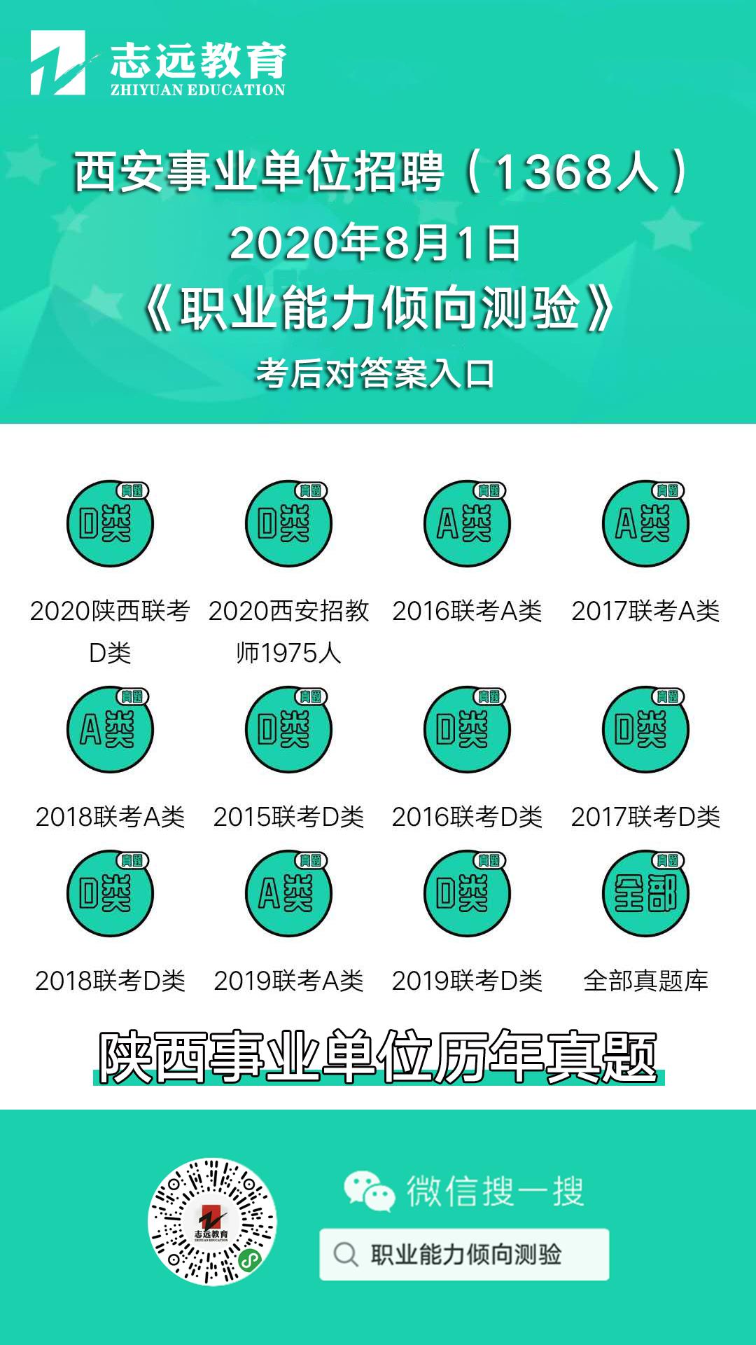 实锤:2020年陕西事业单位(A类综合岗)还有一场全省联考!(图7)