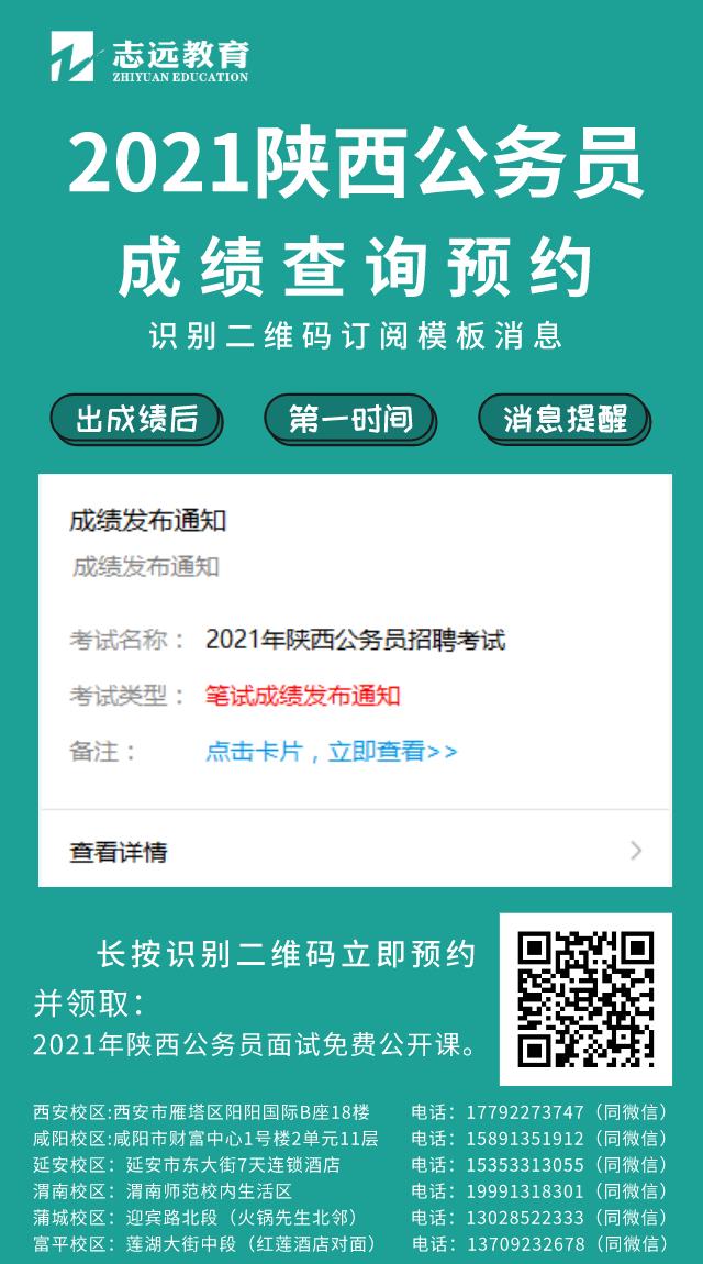 2021陕西公务员成绩查询预约!(图1)