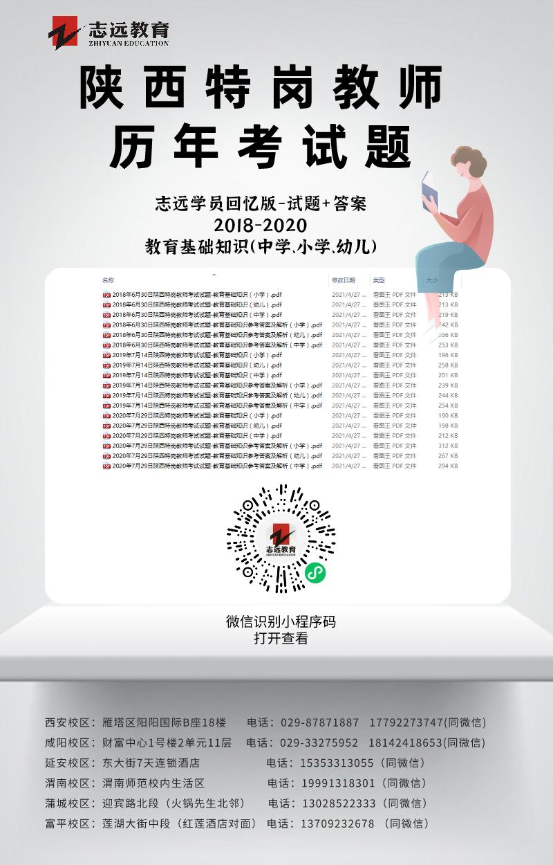 2021陕西特岗教师招聘公告及职位表计划(5335人)(图13)