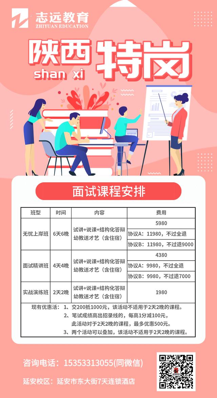 2021陕西特岗面试课程安排(图1)